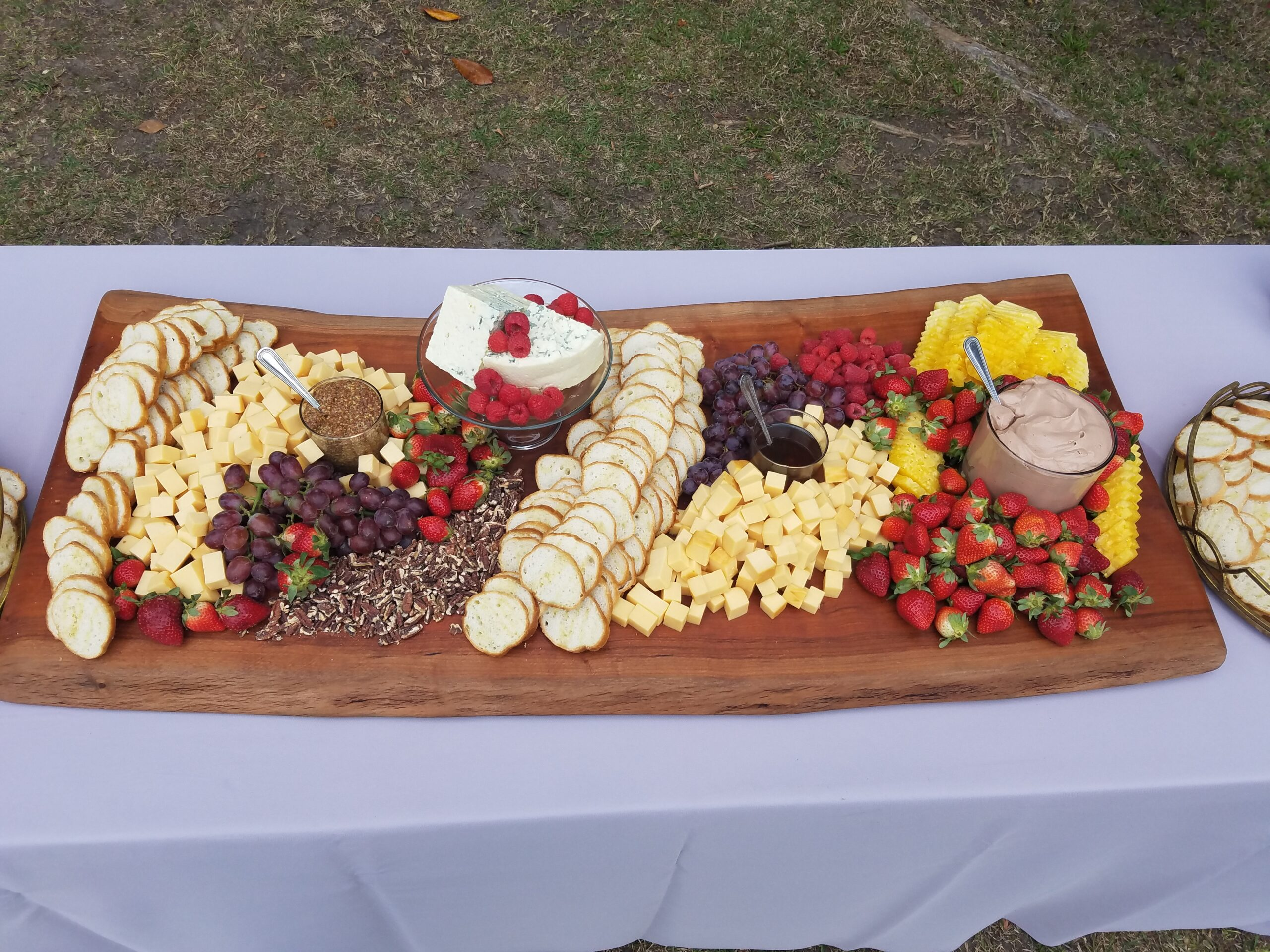 Fruit and cheese grazing table baord